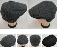 Warm Ivy Cap with Ear Flaps [Wool-Like Solid Color] Button Top